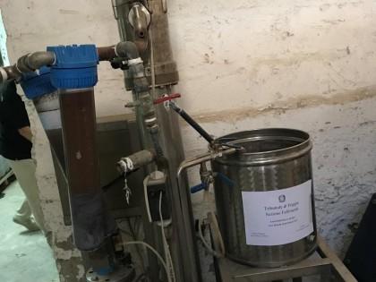 Fig 1 - Impianto di filtrazione tangen...