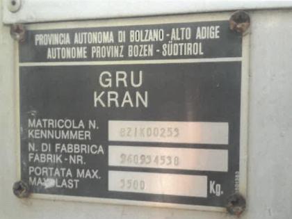 Fig 2 - Gru Condecta Euro-Kran E3410