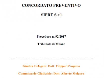 Fig 1 - Ramo d'Azienda  Sipre s.r.l.
