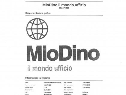 """Fig 1 - Marchio """"Mio Dino"""""""
