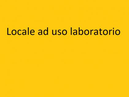 Fig 1 - Locale ad uso laboratorio