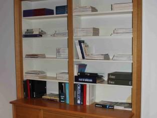 Rif 521 ZONA 6 QTA1 Libreria in rovere naturale con cassetti, ante e ...