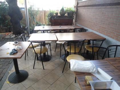 Sedie in ferro e legno: sedie e tavoli in ferro per giardino