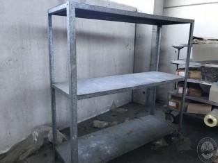 Scaffale in ferro zincato a 3 ripiani 200 x 67 h 200 282 vendita