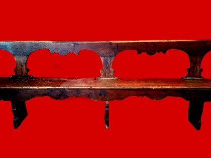 Fig 1 - Fig 1 - 77/66 Tre panche legno di noce...