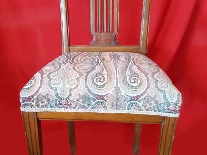 Fig 1 - Fig 1 - 91/66 Tre sedie in legno di no...
