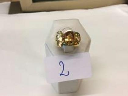 Fig 1 - Fig 1 - Lotto 2: Anello in oro con bri...
