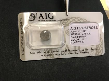 Fig 1 - Fig 1 - Diamante 3.18ct colore H purez...