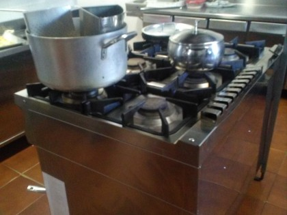 Fig 1 - Fig 1 - Cucina a sei fuochi in acciaio...