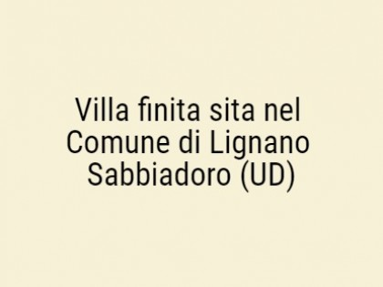Fig 1 - Fig 1 - Villa finita in Comune di Lign...