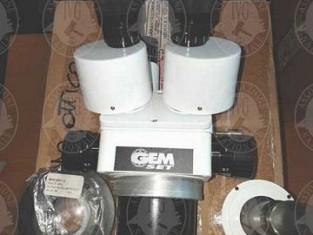 Lotto microscopio ottico gem set con stativo senza