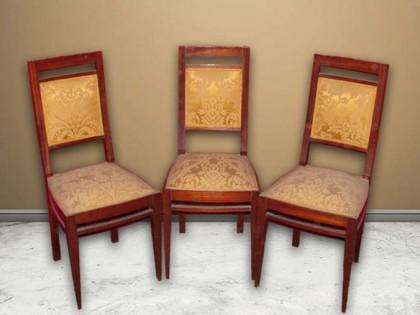 Sedie Depoca : 36 69 tre sedie in legno di mogano epoca 1900 liberty vendita