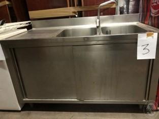 Vasca Da Cucina In Acciaio : Lotto nr.3 mobile per cucina industriale in acciaio inox con nr.2