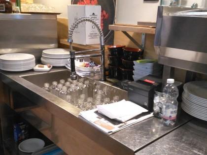 bancone da cucina in acciaio inox-bancone in acciaio inox - bancone
