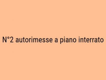 Fig 1 - Fig 1 - N. 2 autorimesse poste a piano...