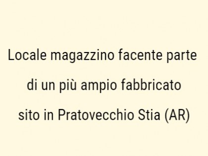 Fig 1 - Fig 1 - Locale magazzino facente parte...