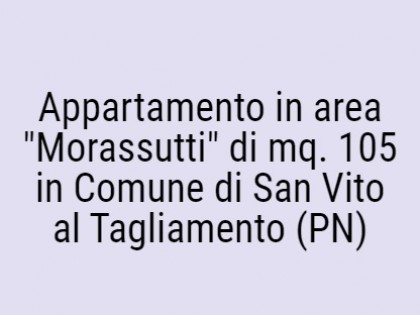 """Fig 1 - Fig 1 - Appartamento in area """"Morassut..."""
