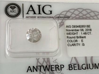 Fig 1 - Fig 1 - Lotto 5 - Diamante tondo, tagl...