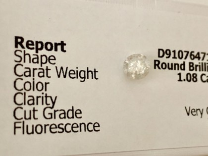 Fig 1 - Fig 1 - Lotto 4 - Diamante tondo, tagl...