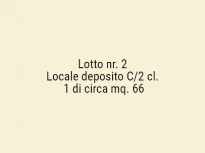 Fig 1 - Fig 1 - Locale deposito C/2 cl. 1 di c...
