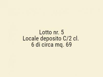 Fig 1 - Fig 1 - Locale deposito C/2 cl. 6 di c...