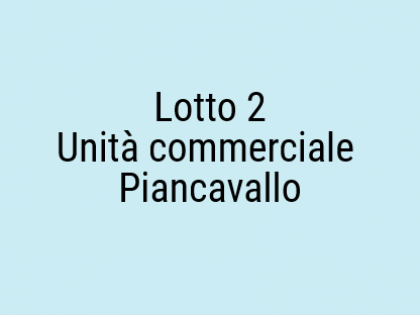 Fig 1 - Fig 1 - Unità Commerciale. Piano Terra...