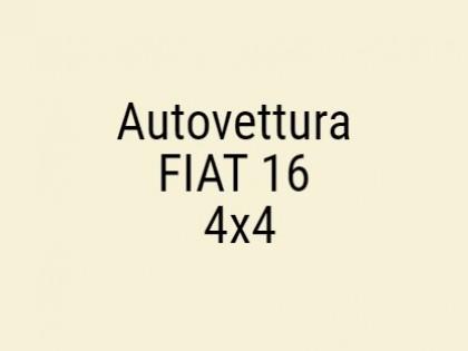 Fig 1 - Fig 1 - Autovettura FIAT 16 4x4