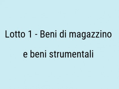 Fig 1 - Fig 1 - Beni di magazzino e beni strum...