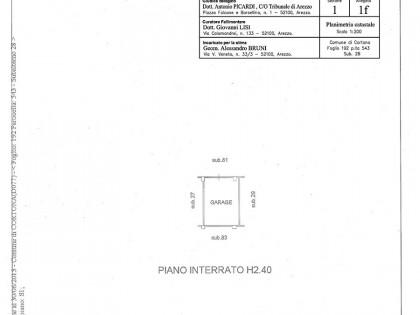 Fig 1 - Fig 1 - CORTONA - locale autorimessa,...