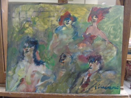 Fig 1 - Fig 1 - lotto 4)  Scuola Italiana olio...