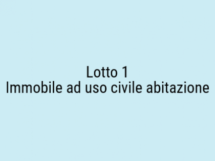 Fig 1 - Fig 1 - immobile ad uso civile abitazi...
