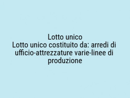 Fig 1 - Fig 1 - Lotto: n. 02 linee di produzio...