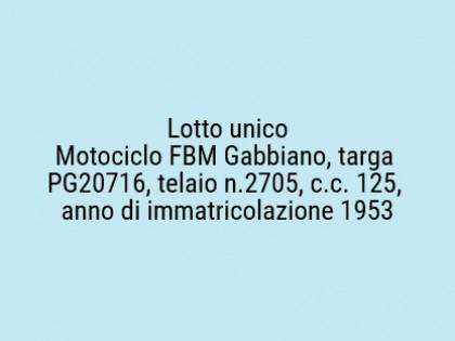 Fig 1 - Fig 1 - Motociclo FBM Gabbiano, targa...