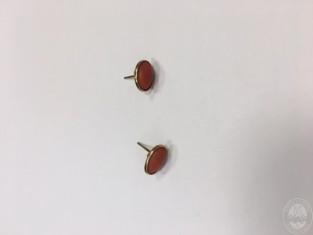 Orecchini in oro e pietra rossa plico 2-3e.JPG