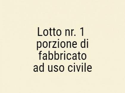 Fig 1 - Fig 1 - Lotto: porzione di fabbricato...