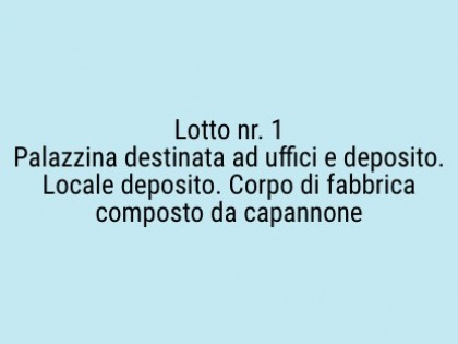 Fig 1 - Fig 1 - Lotto: Palazzina destinata ad...