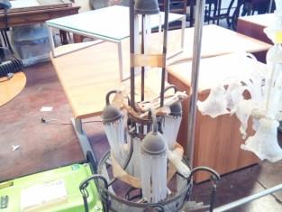 Fig 1 - Fig 1 - lampadario vintage con pendent...