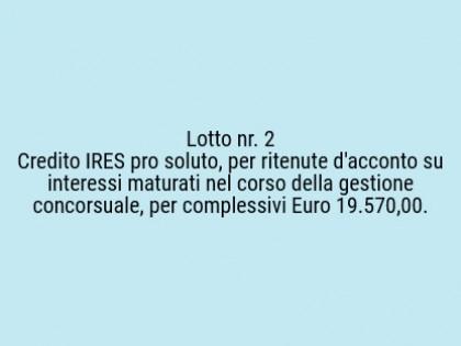 Fig 1 - Fig 1 - Lotto 2 -  credito IRES pro so...