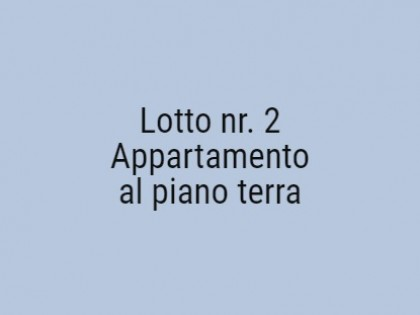Fig 1 - Fig 1 - Appartamento al piano terra, i...