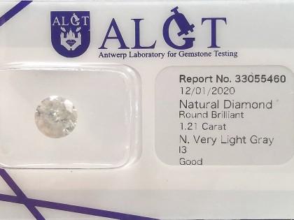 Fig 1 - Fig 1 - (Lotto 1) Natural Diamond Roun...