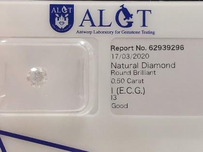 Fig 1 - Fig 1 - (Lotto 3) Natural Diamond Roun...