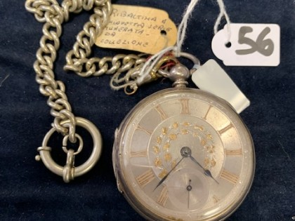 Fig 1 - Fig 1 - LOTTO 56 OROLOGIO ARGENTO CORP...