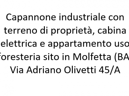 Fig 1 - Fig 1 - In Comune di Molfetta (BA):•...