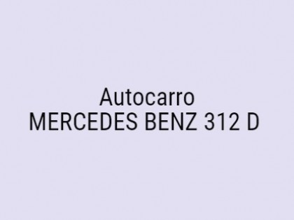 Fig 1 - Fig 1 - Autocarro MERCEDES BENZ 312 D...