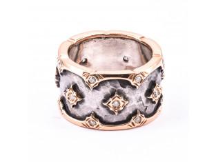 Fig 1 - Fig 1 - L147: anello in oro rosa 18k e...