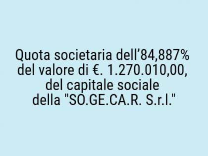 Fig 1 - Fig 1 - Quota societaria dell'84,887%...