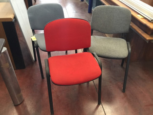Fig 1 - Fig 1 - n.ro 3 sedie imbottite colori...