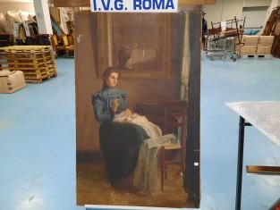 Fig 1 - Fig 2 - Dipinto ilio su tela fine 1800...