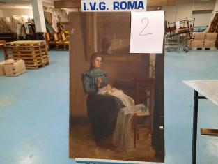 Fig 1 - Fig 3 - Dipinto ilio su tela fine 1800...
