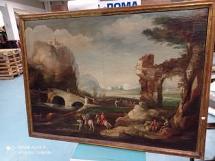Fig 1 - Fig 2 - Paesaggio inizio 1800 raffigur...